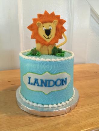baby zoo animals smash cake