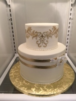 Elegant Gold & White Bridal Shower